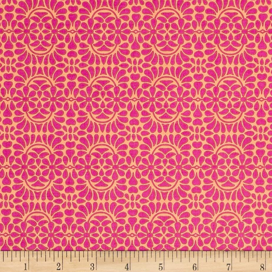Liberty Garden Libby's Lace Pink Fabric