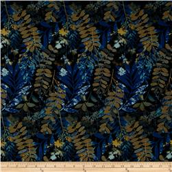 Fernwood Leaves Midnight Blue