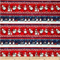 Chilly Silly Snowmates Stripe Multi