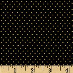 Gold Standard Metallic Pin Dot Black/Gold