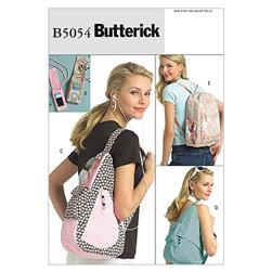 Butterick Young Adult Backpacks and MP3 Player Cover Pattern B5054 Size OSZ