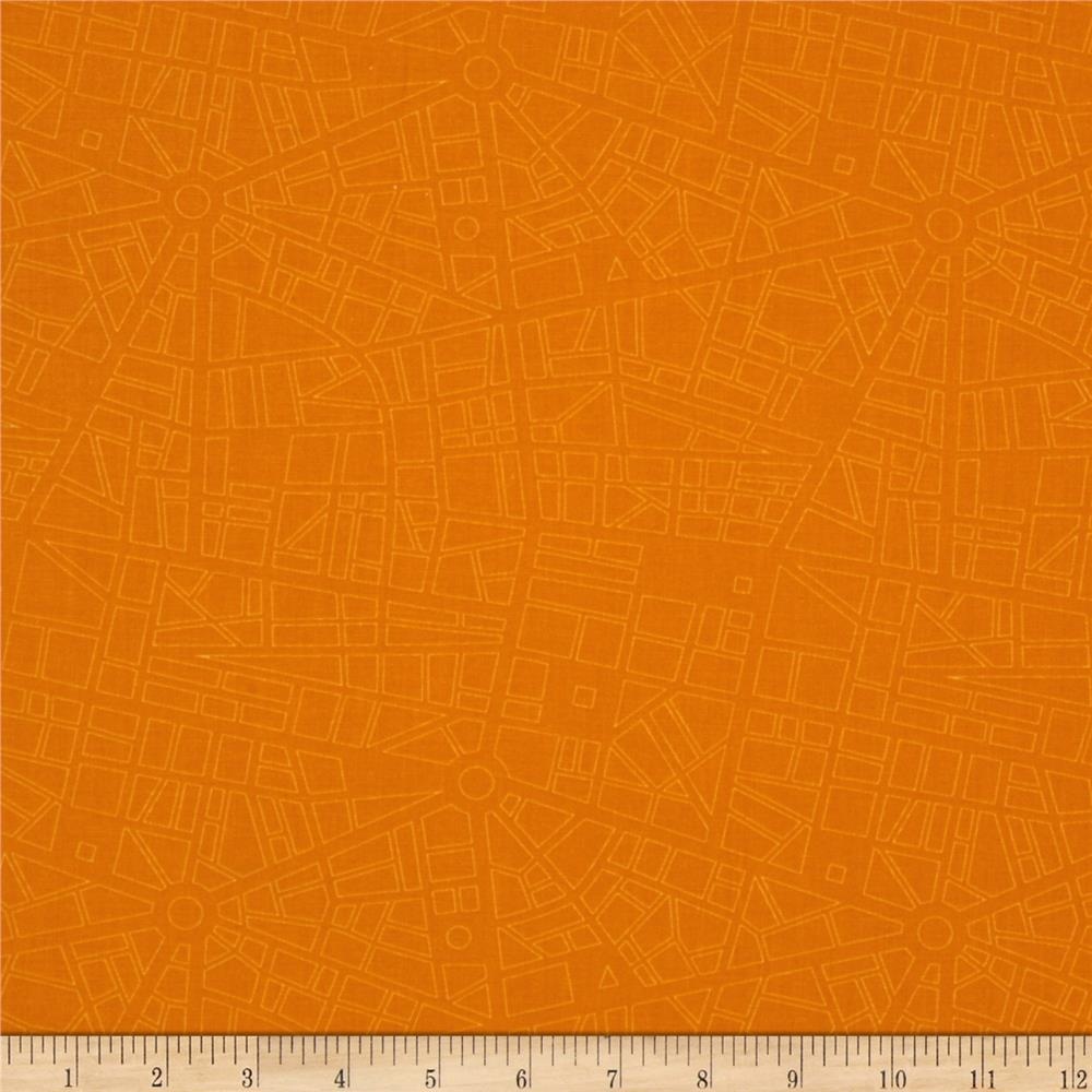 Moda Barcelona City Map Saffron