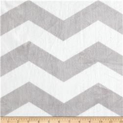 Minky Chevron Silver/White Fabric