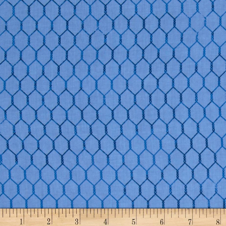 Bright and Early Chicken Wire Blue