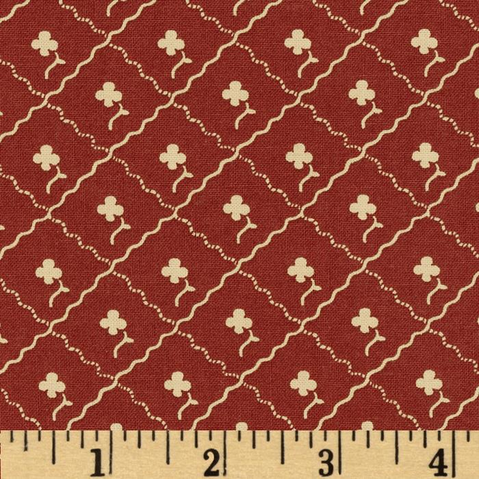 Party of Twelve Trellis Floral Burgundy