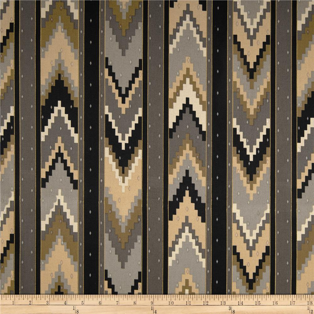 Richloom Marbella Chevron Twill Graphite