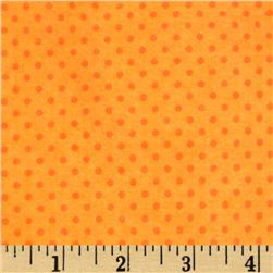 Flannel Mini Dots Tonal Orange