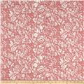 Liverpool Double Knit Allover Flowers Pink/White