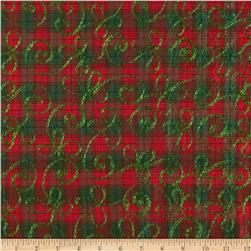 Holiday Blitz Embroidered Plaid Red/Green