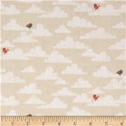 Jungle Birds on Clouds Cream