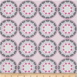 Silk Road Decorative Circles Light Pink/Multi