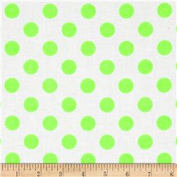 Riley Blake Dots Neon Green Fabric