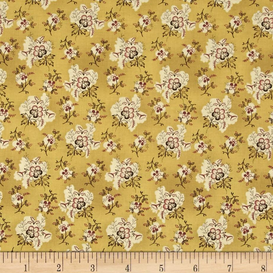 Ophelia Small Floral Cluster Gold