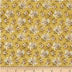 Ophelia Small Floral Cluster Gold Fabric