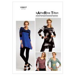 Vogue Misses' Top Pattern V8817 Size B50