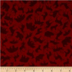 Kanvas North by Northwest Flannel Forest Animals Rust