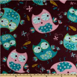 Fleece Owls Plum