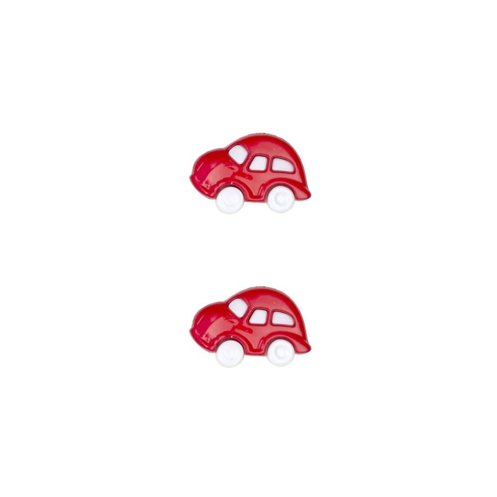 Dill Novelty Button 3/4'' Cars Red
