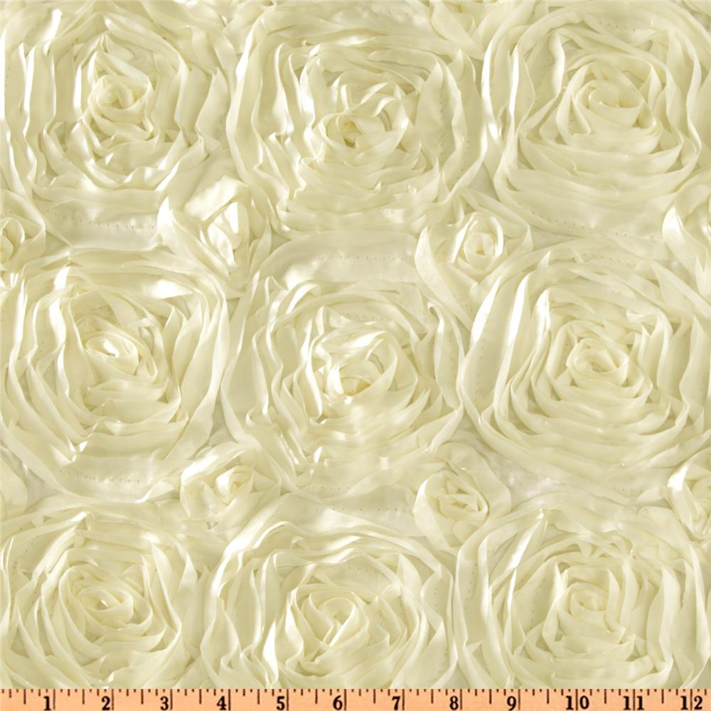 Splenda satin ribbon rosette ivory discount designer for Satin fabric
