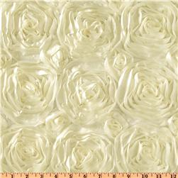 Splenda Satin Ribbon Rosette Ivory
