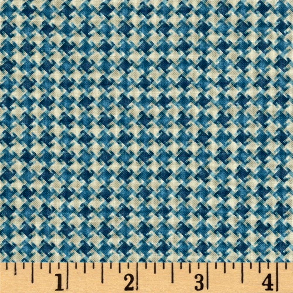My Precious Quilt Houndstooth Blue Fabric By The Yard