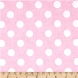 Riley Blake Medium Dots Baby Pink Fabric