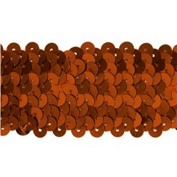 1 1/2'' Metallic Stretch Sequin Trim Orange Fabric