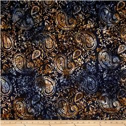 Timeless Treasures Tonga Batik Paisley Midnight