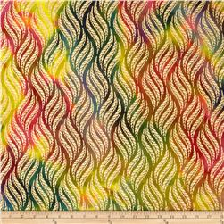 Indian Batik Montego Bay Metallic Wheat Grains Bright Multi