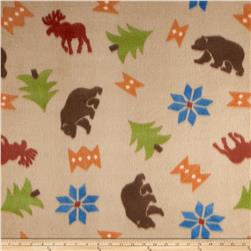 Fleece Print Daniel Boone Brown