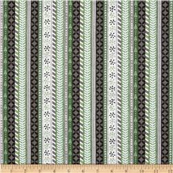 Wilmington Frosted Holiday Ticking Stripe Gray
