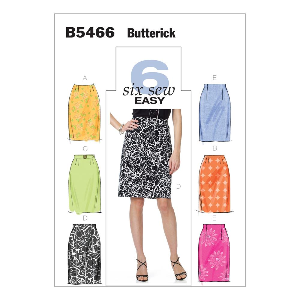 Butterick Misses' Skirt and Belt Pattern B5466 Size BB0