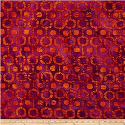 Indian Batik Tribal Circles Purple/Orange