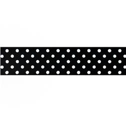 "May Arts 1 1/2"" Grosgrain Dots Ribbon Spool Black/White"