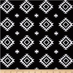 Riley Blake Stretch Cotton Jersey Knit Aztec Jersey Knit Black