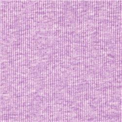 Basic Cotton Rib Knit Heather Lilac