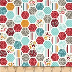 Riley Blake Unforgettable Hexi Blue Fabric