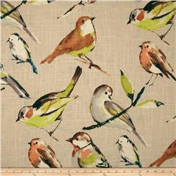 Richloom Birdwatcher Khaki Home Decor Fabric