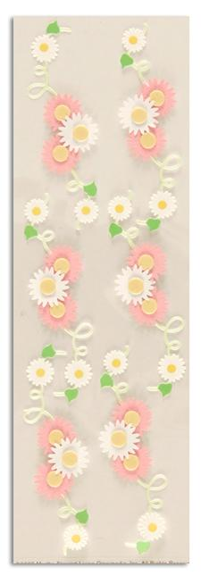 Martha Stewart Crafts Stickers Daisy-On-Vine Pink/White