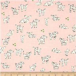 Cotton & Steel Clover Little Lambs Pink
