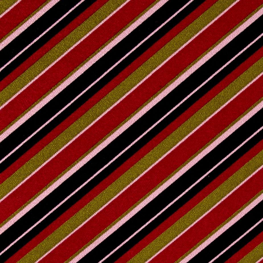 Image of Poly Cotton Spandex Stripe Pink/Black/Green Fabric