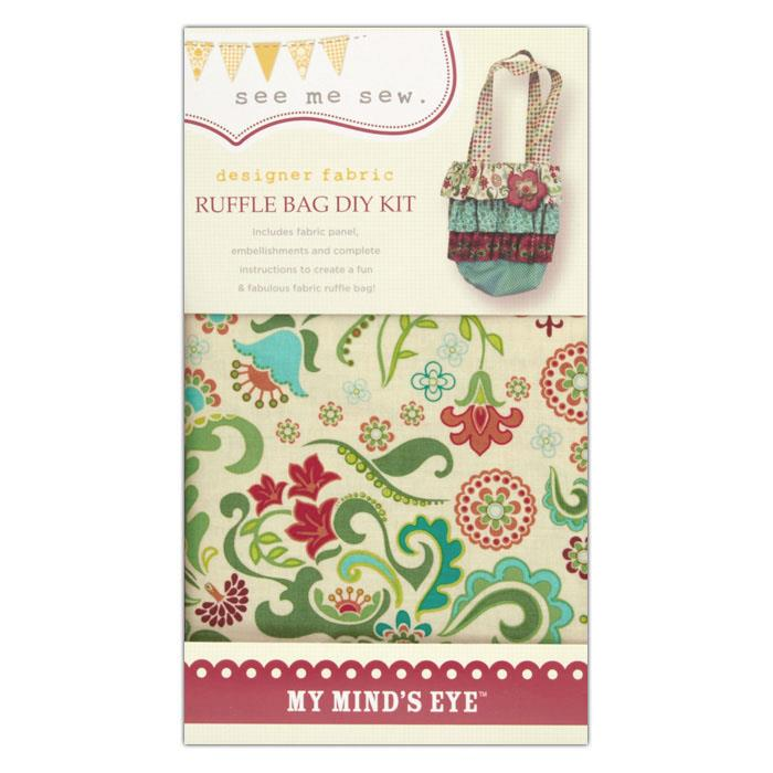 My Mind's Eye See Me Sew Ruffle Bag DIY Kit Red