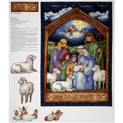 Christmas Holy Night Panel Blue