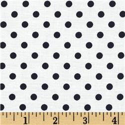 Michael Miller Dumb Dot Marine Fabric