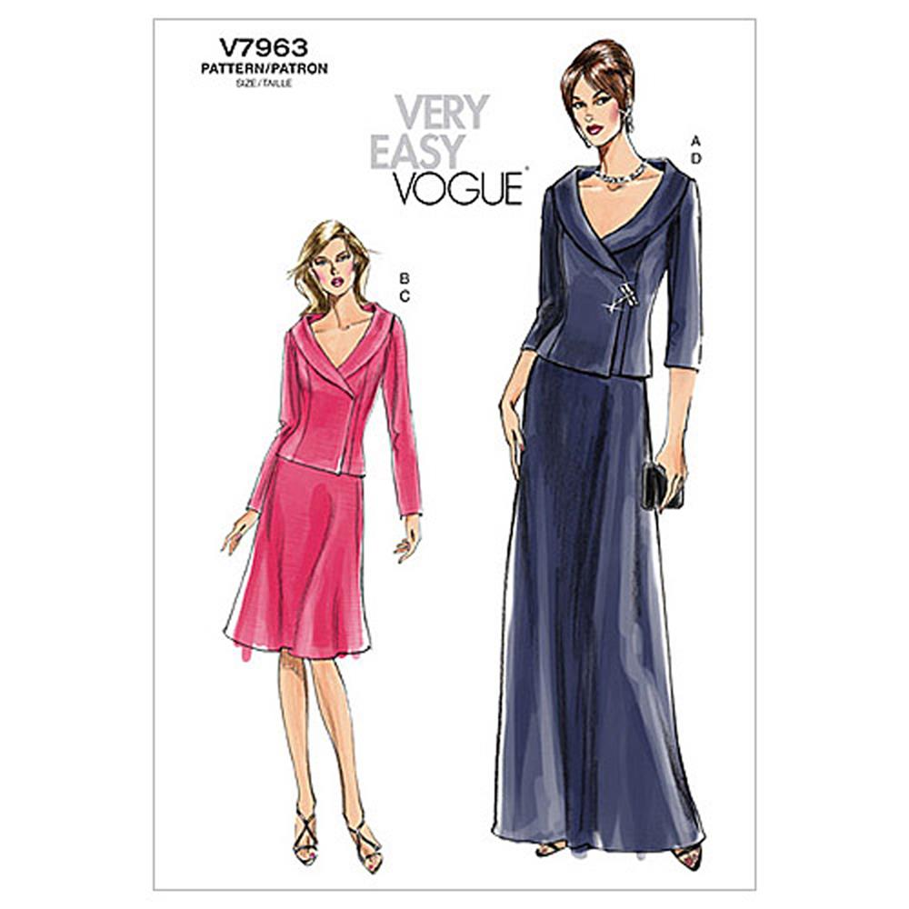 Vogue Misses'/Misses' Petite Top and Skirt Pattern V7963