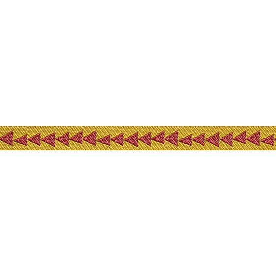 "3/8"" Sue Spargo Ribbon Arrowhead Gold/Burgundy"