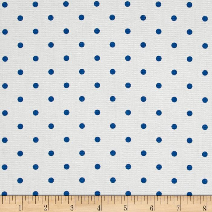 Premier Prints Mini Dots Twill White/Cobalt