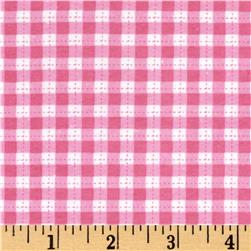 Cuddle Flannel Gingham Pink