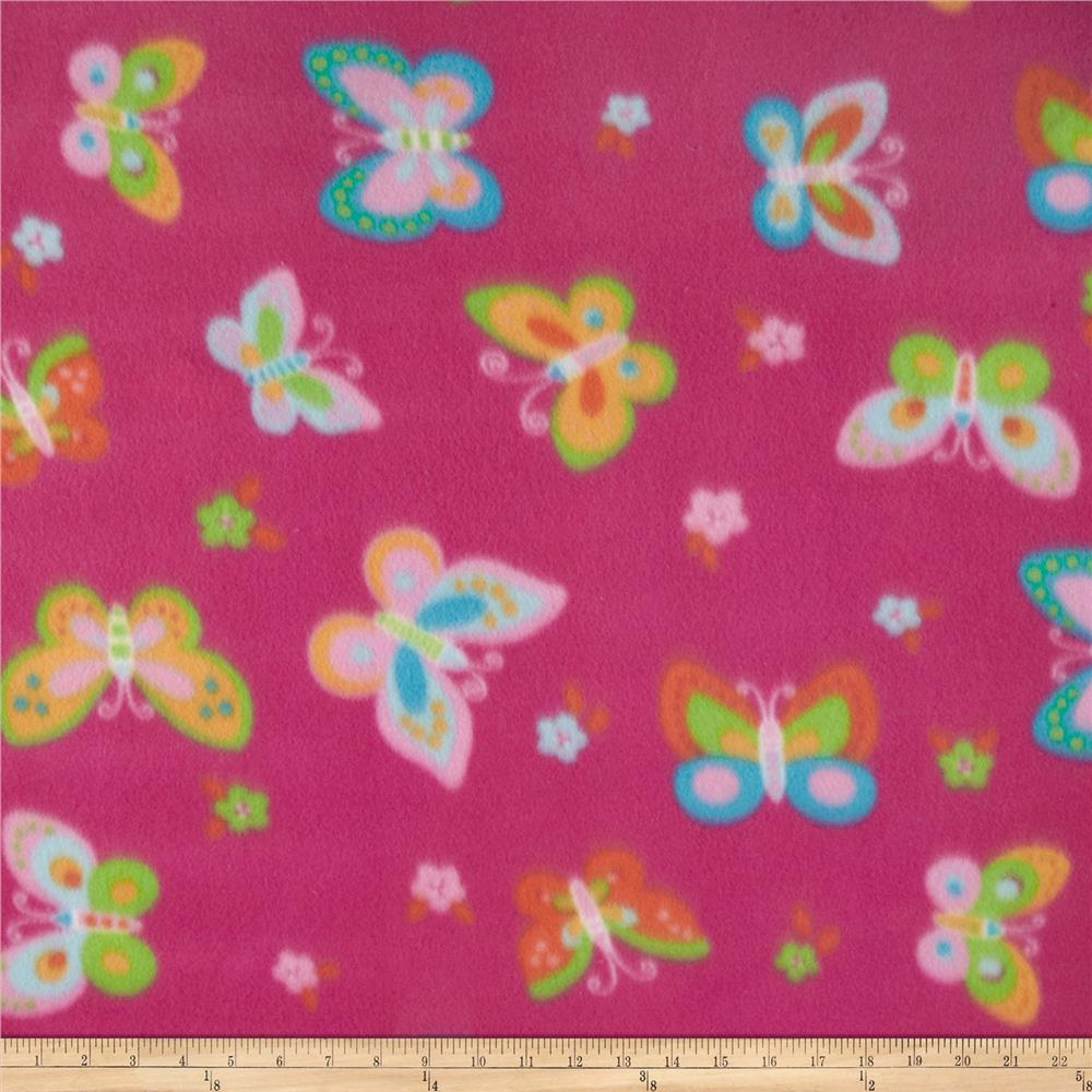 Polar Fleece Prints Monarch Fuchsia