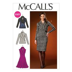 McCall's Misses' Tops and Dresses Pattern M7016 Size 0Y0